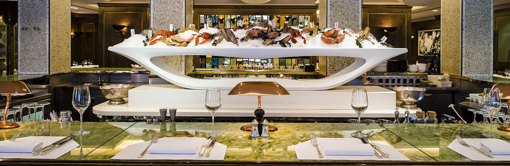 The Oyster and Champagne Bar at Scott's, Fish and Seafood restaurant in Mayfair
