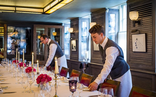 Large group dining in Mayfair, 34 Mayfair, Grosvenor Square
