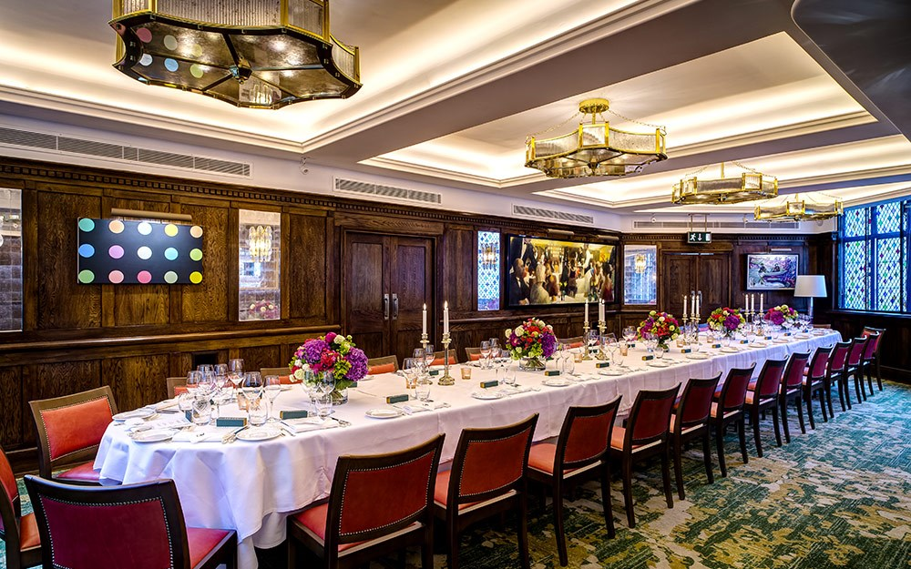 Private dining rooms caprice holdings for Best private dining rooms uk
