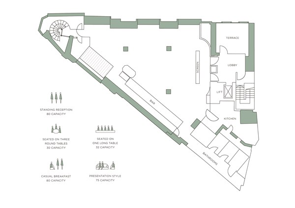 The Floorplan at The Club at the Ivy in Covent Garden