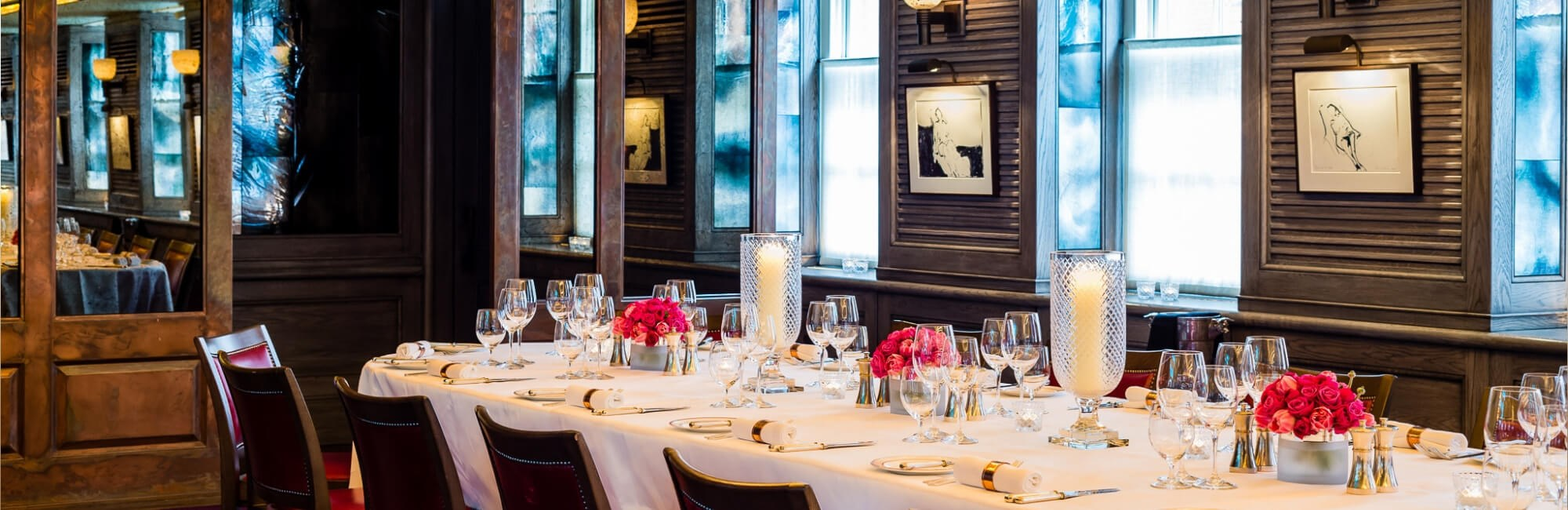 Private dining space at 34 Mayfair in Central London